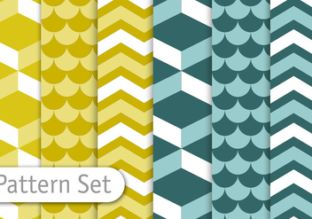 Geometric Decorative Pattern Set - Free vector #350849