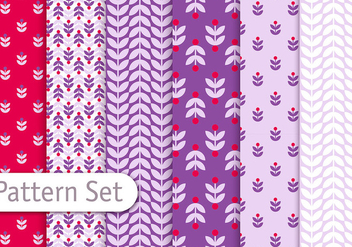 Retro Romantic Pattern Set - Free vector #350899