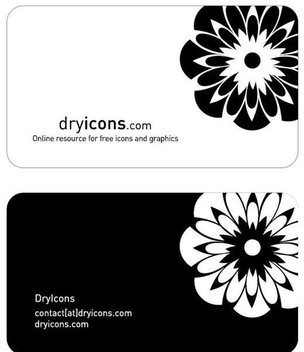 Black and White Business Card - vector gratuit(e) #350999