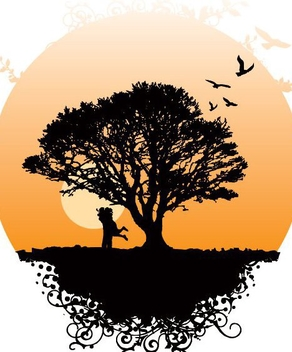 Romance Tree Landscape Globe - Free vector #351019