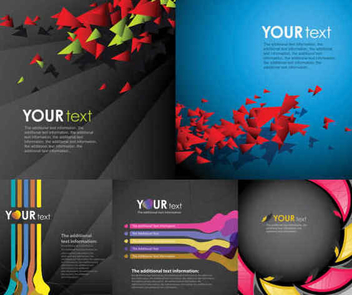 Abstract Business Background Set - Free vector #351289