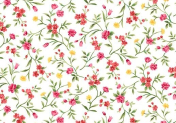 Seamless Watercolor Floral Pattern - vector gratuit #351359