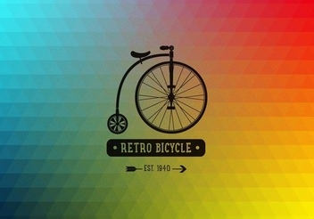 Retro Bicycle Polygonal Background - vector gratuit #351519