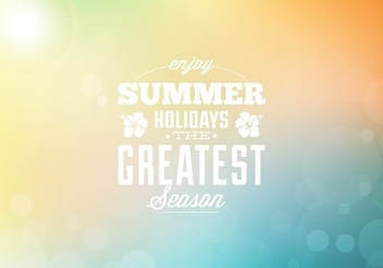 Summer Holiday Colorful Bokeh Background - vector gratuit #351529