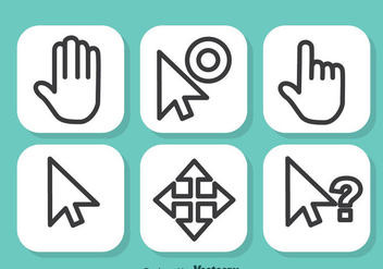 Mouse Cursor Vector Set - Free vector #351889