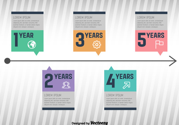 Milestone Infographic Vector - Free vector #351949