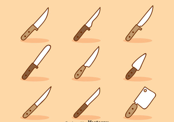 Cartoon Knife Sets Vector - Free vector #351969