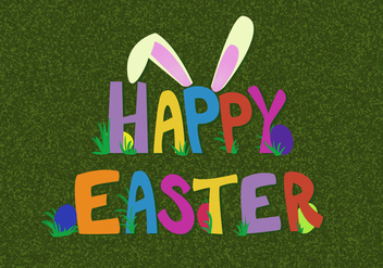 Free Happy Easter Vector - Kostenloses vector #351989