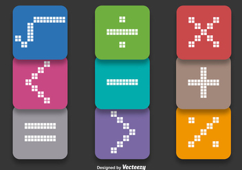 Math Symbols Vectors - Free vector #352039
