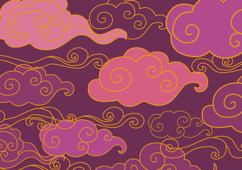 Free Oriental Purple Ornament Vector - Free vector #352159