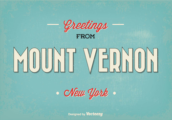 Retro Mount Vernon Greeting Vector Illustration - Free vector #352239