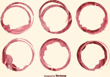 Wine Stain Vector - Kostenloses vector #352299