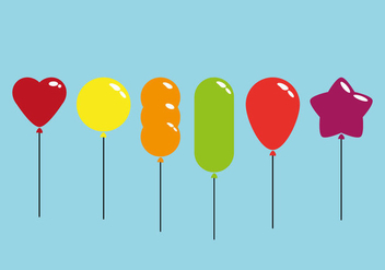 Colorful Balloon Vectors - Kostenloses vector #352409