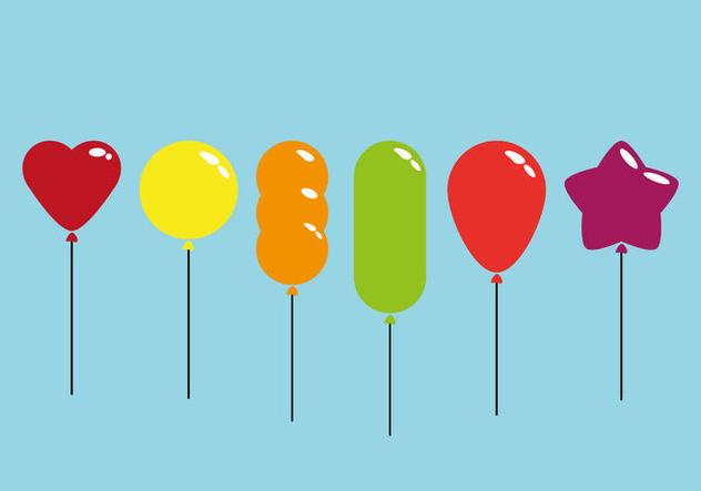 Colorful Balloon Vectors - Free vector #352409