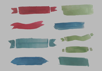 Free Watercolor Banner Vector Pack - Kostenloses vector #352429