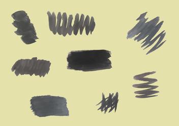 Free Black Brushstrokes Vectors - Free vector #352449