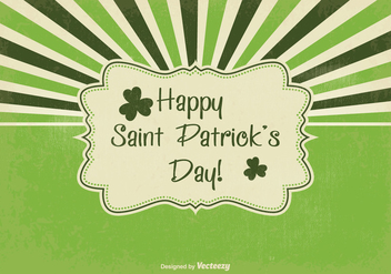 Retro Saint Patrick's Day Illustration - vector gratuit #352559