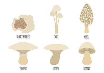 Mushroom Family Vectors - Free vector #352569