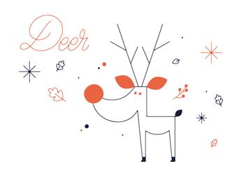 Free Deer Vector - Kostenloses vector #352599