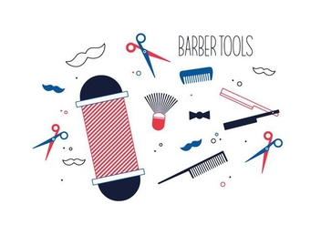 Free Barber Tools Vector - Free vector #352669
