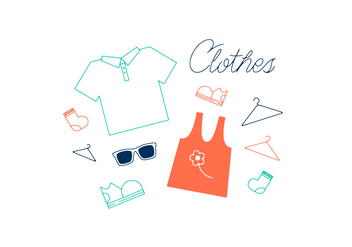 Free Clothes Vector - бесплатный vector #352679