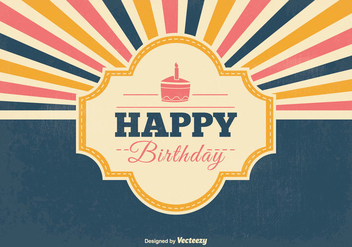 Retro Birthday Vector Illustration - Free vector #352739