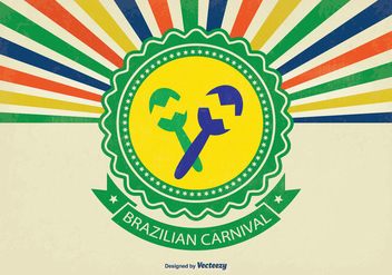 Retro Brazil Carniaval Vector Background - Free vector #352759