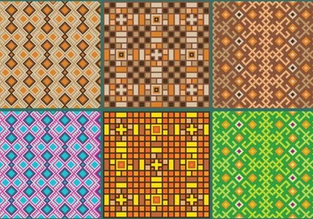 Inca Pattern Vectors - Free vector #352779