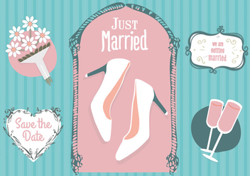 Free Just Merried Vector - Kostenloses vector #352839