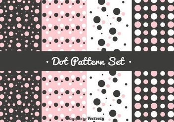 Pink Dot Pattern Set - Kostenloses vector #352899