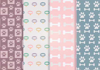 Vector Dog Accessories Patterns - Free vector #352919
