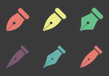 Free Pen Nib Vector Icon - Free vector #352979