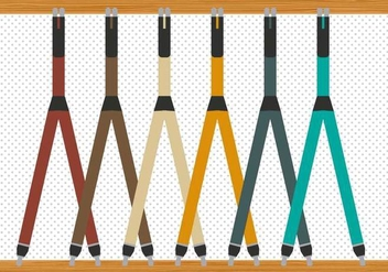 Free Modern Suspenders Vector - Free vector #353029