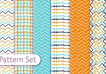 Colorful Line Art Pattern Set - Free vector #353069