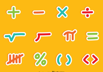 Math Symbols Colorful Vector Sets - Kostenloses vector #353109