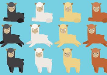 Cute Llama Vectors - Free vector #353119