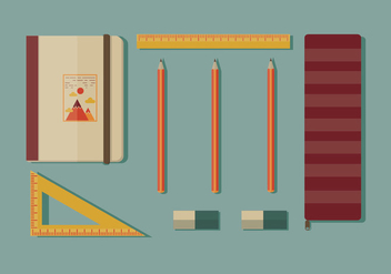 Pencil Case Vector - Free vector #353169