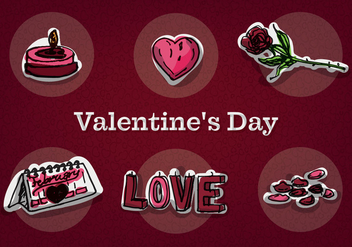 Free Valentine's Day Vector Icons - Free vector #353189
