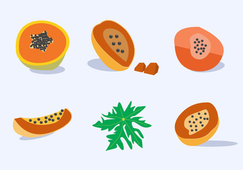 Papaya Fruit Vector - Free vector #353249
