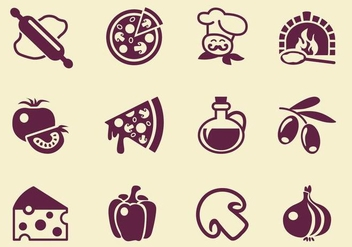Simple Pizza Vector Icons - Free vector #353379