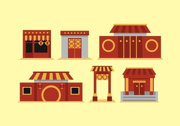 FREE CHINA TOWN VECTOR - vector gratuit #353459