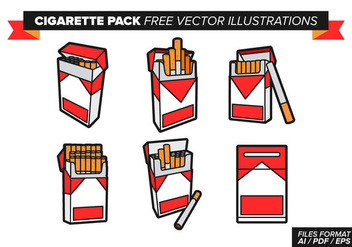 Cigarette Pack Free Vector Illustrations - бесплатный vector #353579