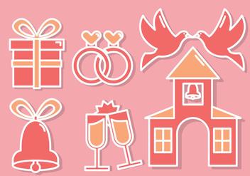 Wedding Icons Vector - Free vector #353629