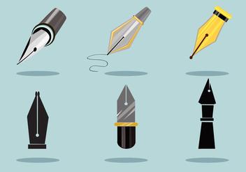 Elegant Pen Nibs Vector - Free vector #353719