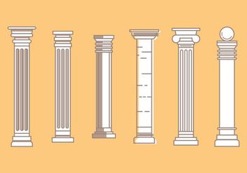 Free Roman Pillar Vector Icons #3 - бесплатный vector #353729