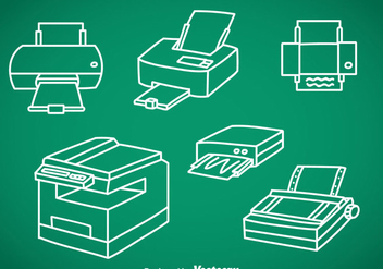 Photocopier Vector Sets - бесплатный vector #353739