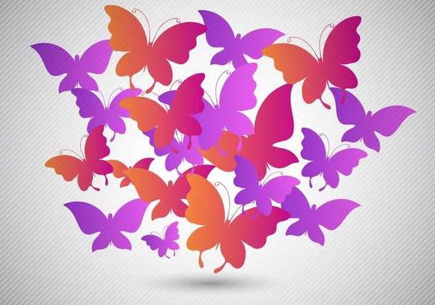 Free Butterflies Design Vector - Free vector #353799