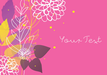 Decorative Floral Colorful Background Design - Kostenloses vector #353829