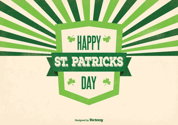 Retro St Patrick's Day Illustration - vector gratuit #353919