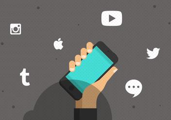 Vector Social Media Smartphone - Kostenloses vector #353959